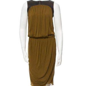DEREK LAM Leather paneled dress. Sz 6